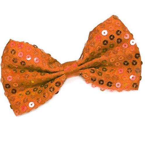 Glitzer Fliege Party Fliege Pailletten Fliege Schleife Hochzeit Fliege Orange
