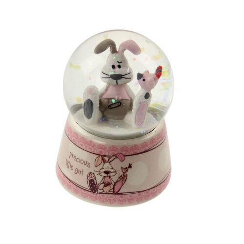 Precious Little Girl Baby Gifts Rabbit Ceramic Pink Glitter Water Ball Waterball