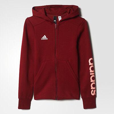 Clothing adidas Girls Essentials 3 Stripes Hooded Jacket