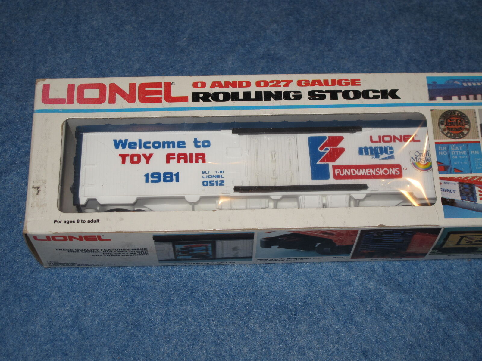 1981 Lionel 6-0512 Welcome To Toy Fair 1981 Box Car L0551