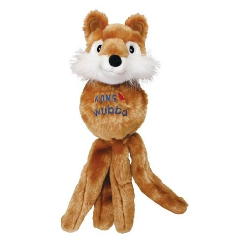 Fuzzy Wubba Dog Toy Animal Friend Soft Toys For Dogs Plush Squeaker Choose Size