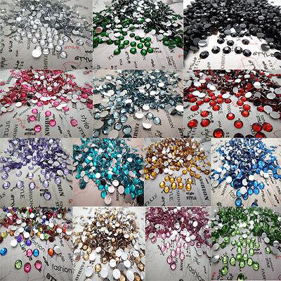 NEW DIY 4mm 800pcs Facets Resin Rhinestone Gems Flat Back Crystal beads pick U