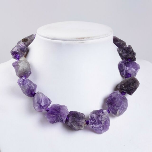 "Rough Raw Quartz rock crystal big nuggets loose beads 16""  2mm hole"