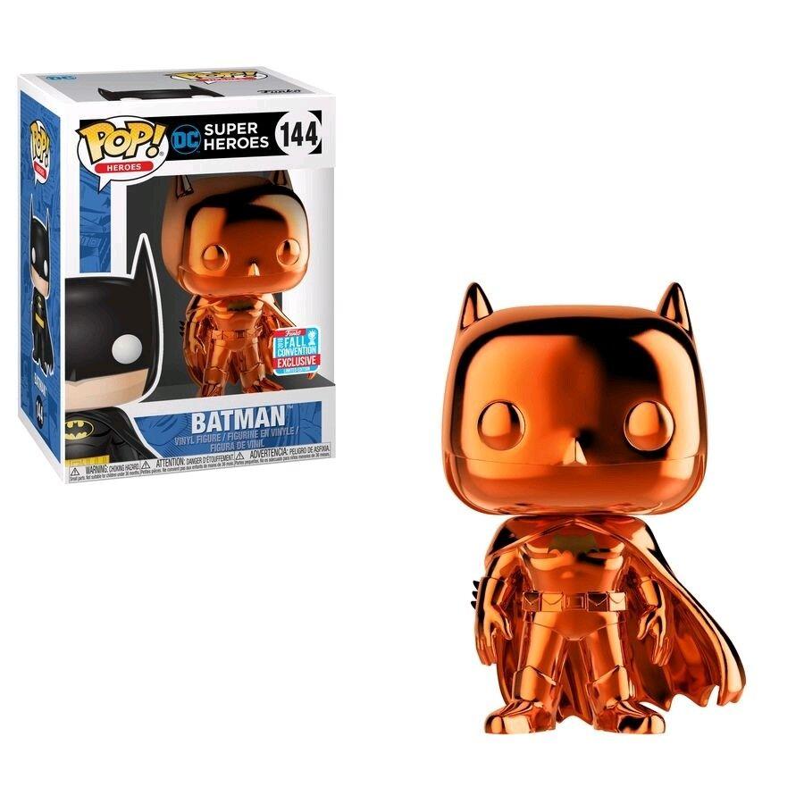 Batman Orange Chrome Pop  Vinyl Figure DC  144 NYCC 2018 Exclusive