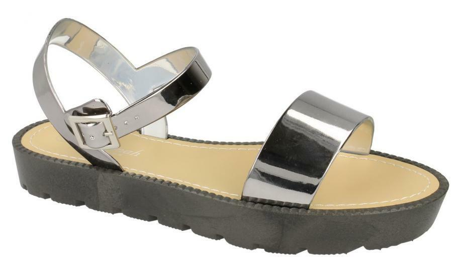 F0830- Summer Ladies Synthetic Savannah Pewter Summer F0830- Sandals- Great Price 410b68