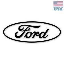 "Large 30"" Ford Vinyl Decal -BLACK- Car Truck Adhesive Window Sticker FOMOCO Logo"