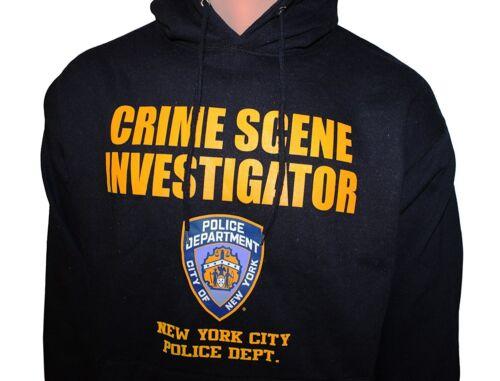 NYPD Crime Scene Investigation Hoodie CSI Sweatshirt Navy Blue
