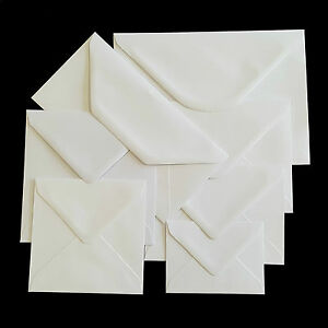 Plain-White-Envelopes-100gsm-for-Greeting-Cards-Party-Invitations-amp-Crafts