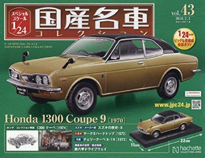 Japanese famous car collection vol.43 vol.43 vol.43 1 24 Honda 1300 Coupe 9 Magazine 9e1ef1