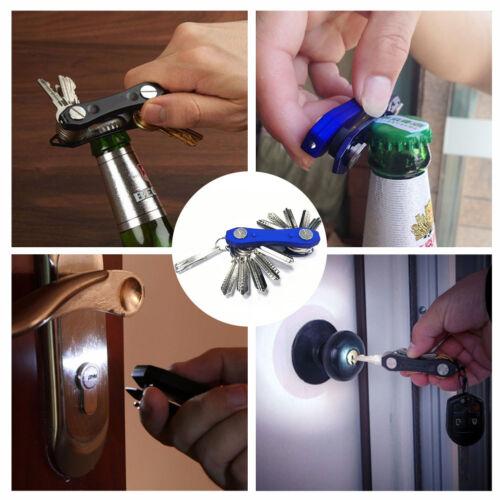 Smart aluminum Key Holder Organizer Clip Folder Keyring Keychain EDC Pocket Tool