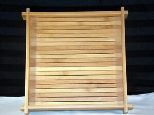 NIB-Party-Lite-Verde-Square-Bamboo-Tray