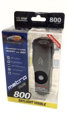 Cygolite Metro Plus 800 Lumens Bicycle Headlight USB Rechargeable 9-Modes