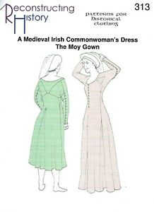 Schnittmuster-RH-313-Medieval-Irish-Commonwoman-039-s-Dress-The-Moy-Gown
