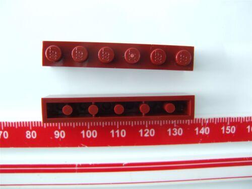 2 x Lego Dark red Brick Parts /& Pieces size 1x6 - 4541528