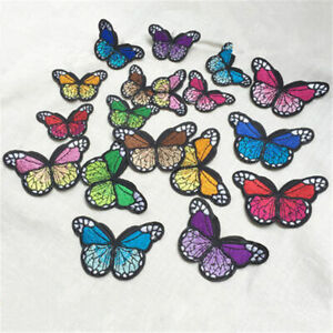 10-x-Embroidery-Butterfly-Sew-Iron-On-Patch-Badge-Embroidered-Applique-CL