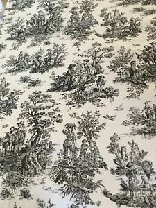 White Ivory Toile Fabric 108 X
