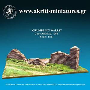 Akritis Min. Sc-008 Crumbling Walls Scala 1/35