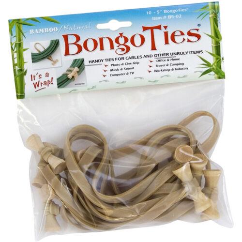 Natural Details about  /BongoTies All Natural Reusable Cable Tie Wraps 10-Pack