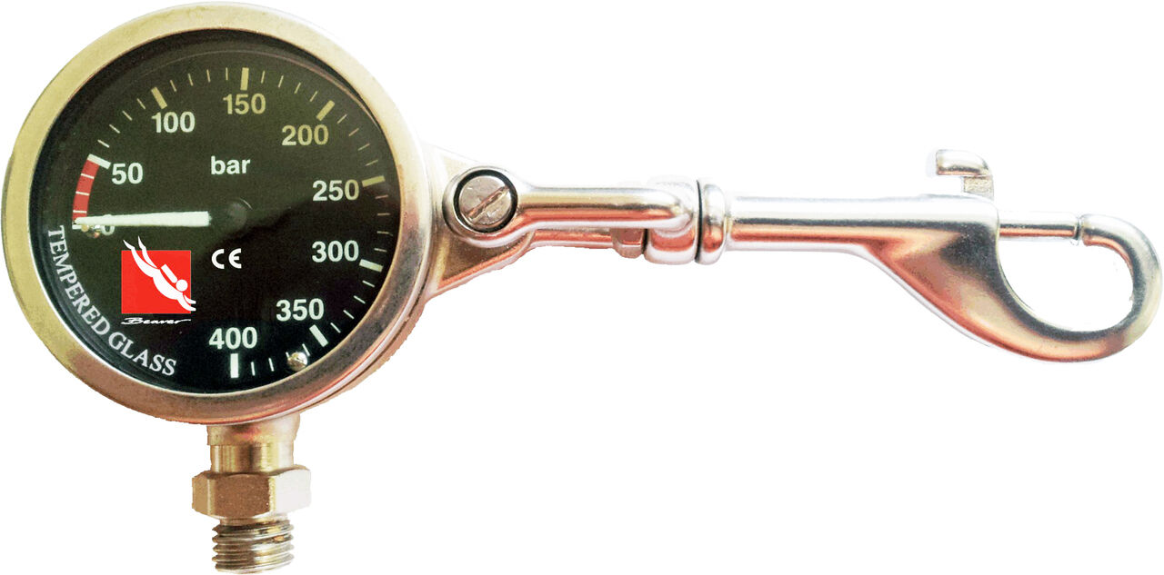 Beaver Indicator + Pressure Gauge with Attachment Clip