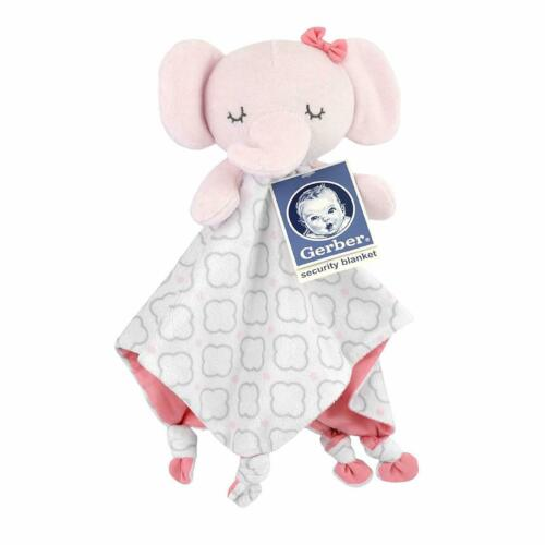 Gerber Pink Elephant Security Blanket-Baby Girl Gift