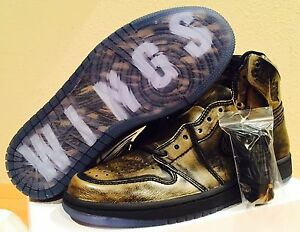 Ds 5 Jordan hombre Nike Black Air Og Wings Metallic Retro 035 8 Gold High Aa2887 para I C565pT