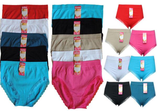 5 Damen Slips Pantys Pants 38 46 48 50 52 54 56 58 60 – 70  Übergröße Unterhosen