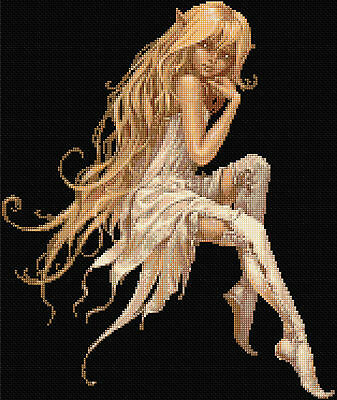 White Fairy Counted Cross Stitch Kit  Fairy/Fantasy Free 1st Class Recorded post
