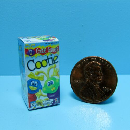 Dollhouse Miniature Replica Toy Box of Cootie Game ~ G018