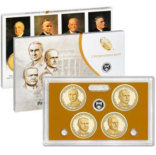 2014 S Presidential Dollar Proof 4 Coin Set United States Mint PE4