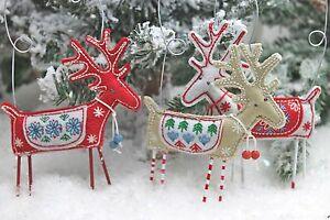 Gisela-Graham-Navidad-Scandi-Nordic-Tela-Reno-Decoracion