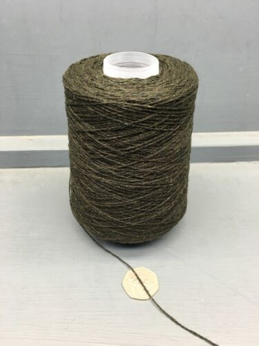 200G VERY DARK OLIVE GREEN MIX 211NM LAMBSWOOL YARN OLIVE
