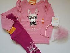 Gymboree STARRY NIGHT Pink Bunny Rabbit Shirt Legging Headband Lot 18-24 EASTER