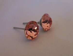 HYPOALLERGENIC-Stud-Earrings-Swarovski-Elements-Crystal-in-Light-Rose-Color