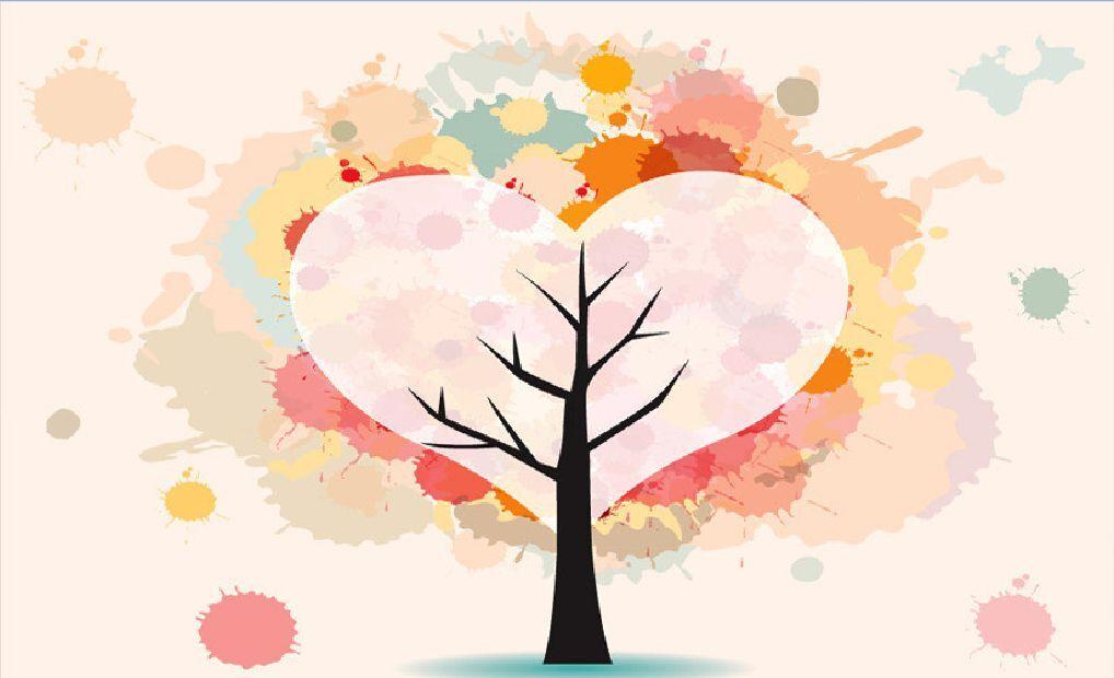 3D Heart-shaped Baum 15467 Fototapeten Wandbild Fototapete BildTapete Familie DE