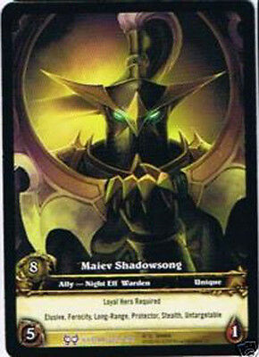 WOW Warcraft TCG ARCHIVES FOIL MAIEV SHADOWSONG EA X 4