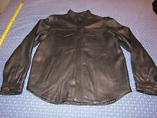 MENS HASBRO LEATHER MOTORCYCLE CYCLE JACKET SIZE XL GREAT SHAPE