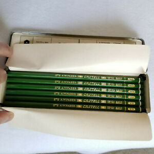 FABER-CASTELL-9000-ARTIST-12-GRAPHITE-PENCILS-9H-in-ORIGINAL-METAL-BOX-GERMANY