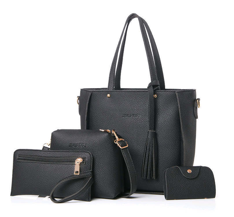 4pcs Set Women Handbag Lady Shoulder Bags