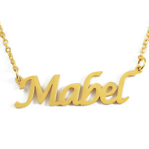 BEATRICE Name Necklace Personalised Custom 18ct Gold Plated Christmas Gifts