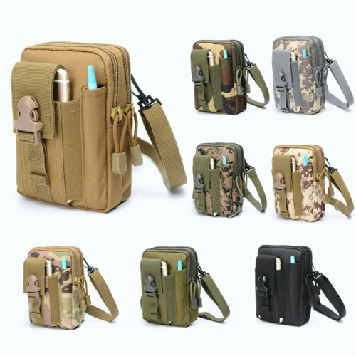 Tactical Belt Fanny Pack Waist Pouch Outdoor Sports Bag Crossbag Molle Pouches