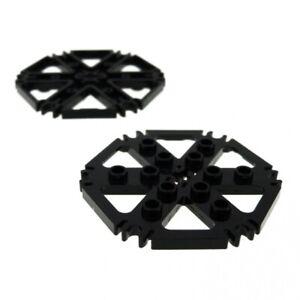 2x-Lego-Technic-Rotor-Platte-schwarz-ca-7x7-6-Clips-Rotorblaetter-4539442-64566