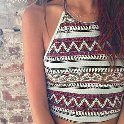 Sexy Women's Boho Tank Tops Bustier Bra Vest Crop Bralette Shirt Blouse Cami New