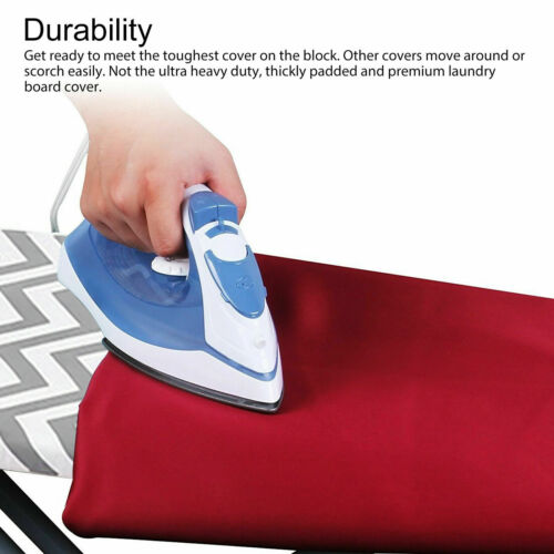 """US Ironing Board Cover Coated Thick Padding Heat Resistant Scorch Pad 15/"""" x 54/"""""""