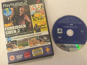 PLAYSTATION-2-MAGAZINE-GAME-DEMO-DISC-74-PS2-FORBIDDEN-SIREN-2-EARACHE-EXTREME