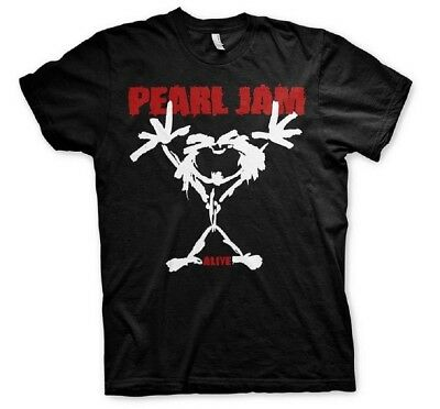 Kleidung & Accessoires T-shirts Stickman T-shirt Hochwertige Materialien Pearl Jam