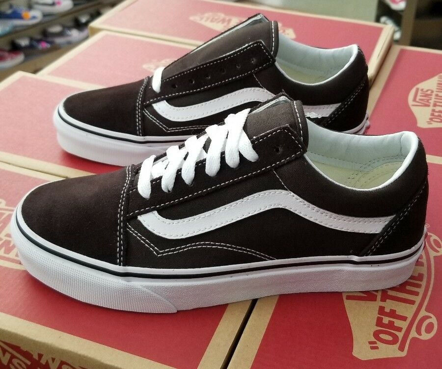 VANS OLD SKOOL MEN'S CHOCOLATE TORTE   TRUE WHITE VN0A38G1U5Z