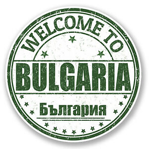 2 x Bulgaria Vinyl Sticker Car Travel Luggage #9462
