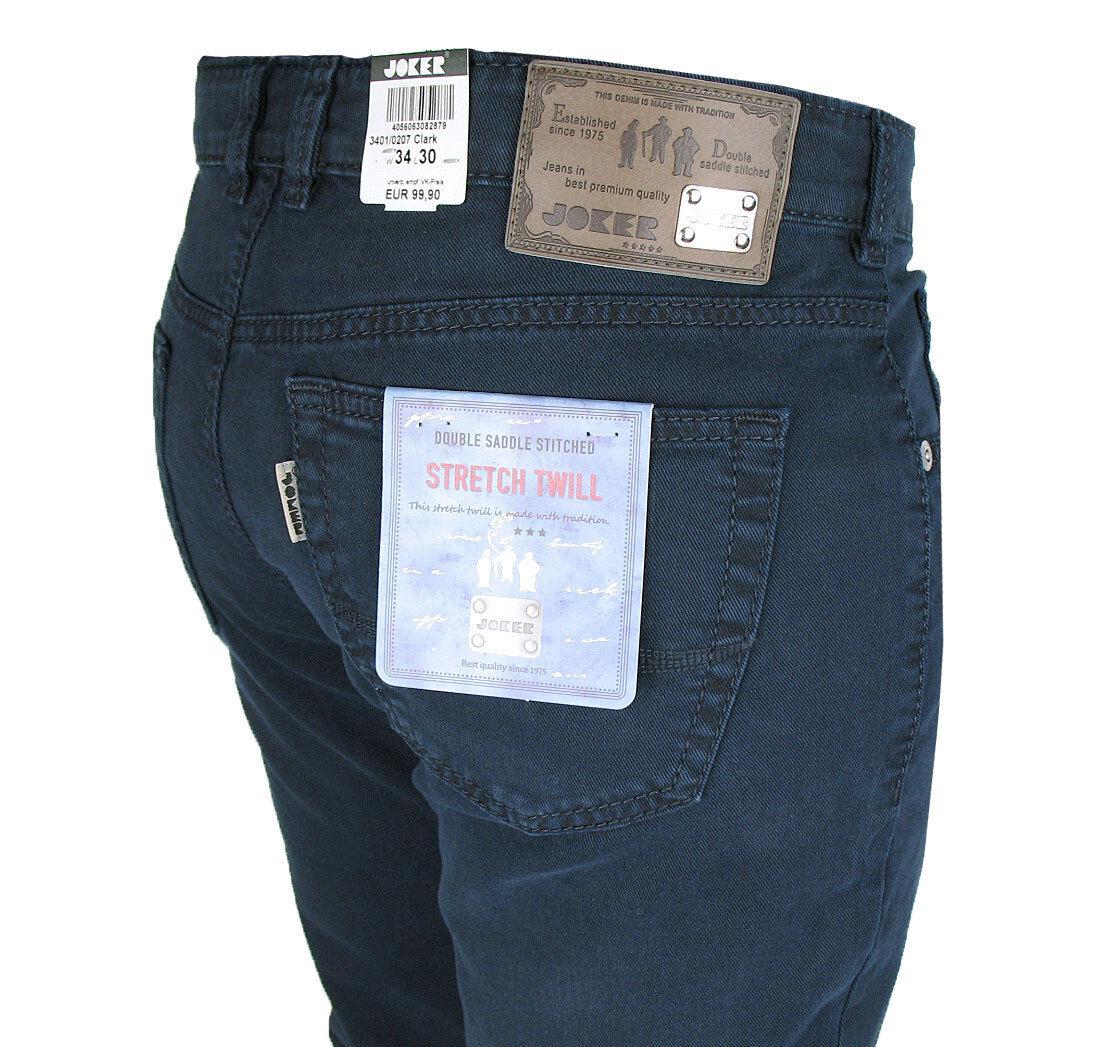 JOKER Jeans   Clark ( Comfort Fit ) 3401  dunkelblue Twill-Stretch