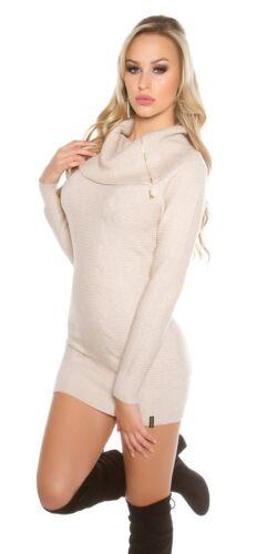 KOUCLA Dolcevita Maglione Pullover sweater con zips