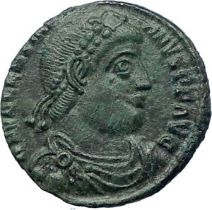 VALENTINIAN-I-364AD-Genuine-Ancient-Roman-Coin-ANGEL-VICTORY-Nike-i73200
